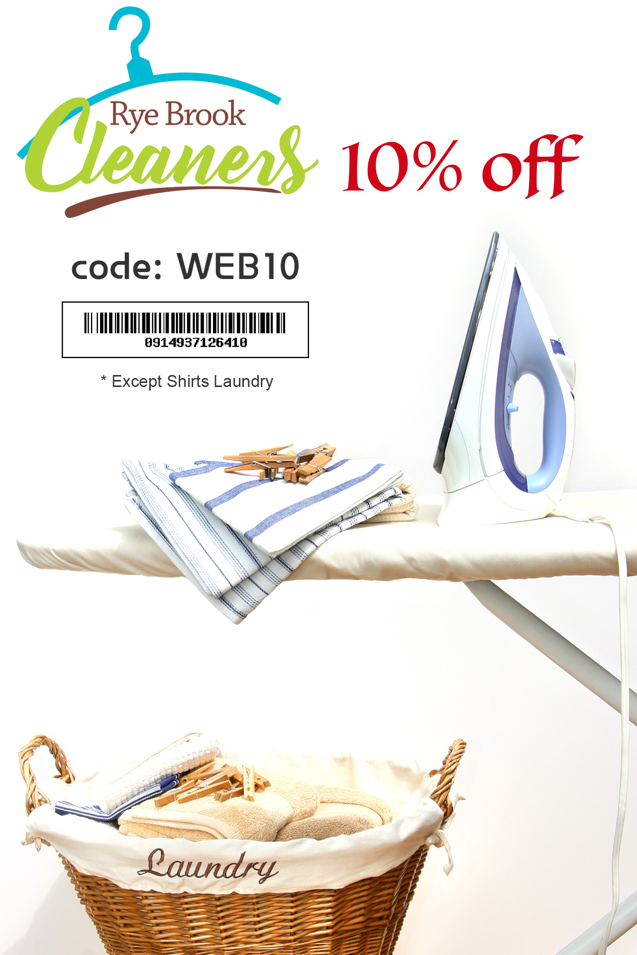Rye Brook Dry Cleaners $10 off on any